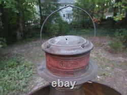 Antique Dietz 60 Beacon Light Huge Railroad Train Lantern 20 x 16 x 10