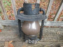 Antique Dietz Lantern No. 3 New York Giant Railroad Station Street Lamp 20 1904