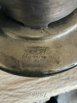 Antique Dietz Vesta Railroad N. Y. C. S Red Globe etched NYCS / Syracuse -1 40