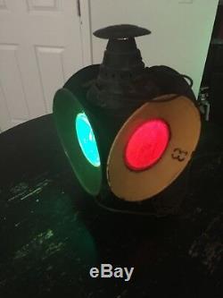 Antique Dressel Arlington, NJ 4-way Railroad RR Signal Light Lantern