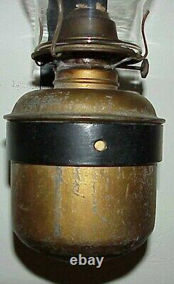 Antique Dressel Rr Railroad Caboose Bunk Car Wall Mount Oil Lamp Lantern