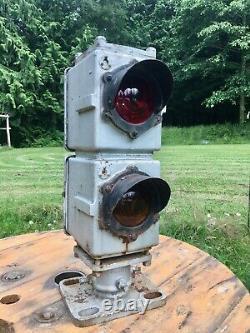 Antique Erie Railroad 2 light DWARF Train Signal Light