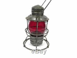 Antique Erie Railroad Armspear Mfg New York Red Globe RR Lantern USA