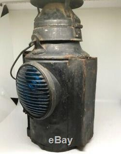 Antique Handlan Buck Railroad Signal Kerosene Lamp Lantern