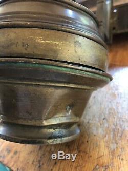 Antique Heavy Brass Railroad Car Oil Lamp Adams & Westlake Company Chicago