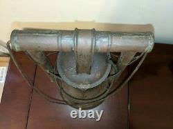 Antique Hermance Safety Barn Railroad Lantern Tubular Kerosene Rare