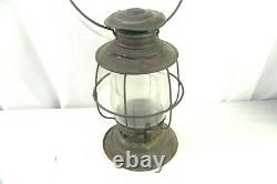 Antique Kerosene Double Globe Bellbottom Railroad Lantern BUCKEYE Lamp