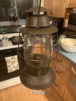 Antique Kerosene Outer Globe Bellbottom Railroad Lantern BUCKEYE Sr. RR Lantern
