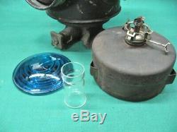 Antique Milwaukee Road Railroad Switch Lamp Lantern C. M. & St. P RY + Pot
