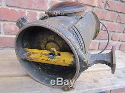 Antique PENNSYLVANIA RAILROAD ADLAKE CHICAGO Oil Lantern w Burner PRR lamp