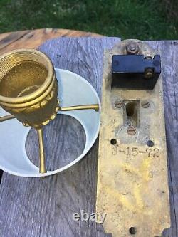 Antique PULLMAN Railroad Sleeping Car Light Cast Brass Bakelite Shade