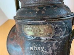 Antique Peter Gray Boston Railroad Inspectors Lantern