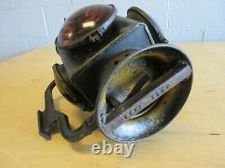 Antique Prr Railroad Lantern Bell Bottom Sheet Tin Circa 1910 Seldom Seen