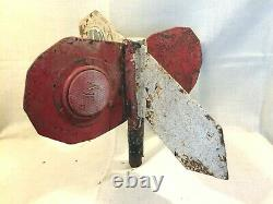 Antique RAILROAD Switch Directional Signal Reflective Cast Iron For Restoring