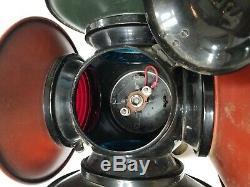 Antique RR Adlake railroad switch signal vintage train lamp
