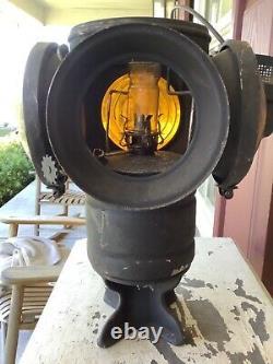 Antique Railroad Adlake Lantern 4 Way Non Sweating Switch Signal Chicago RR