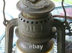 Antique Railroad Lantern Vintage Nier Feuerhand No. 270 Kerosene Lantern