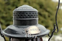 Antique Railroad MARBLEHEAD E. M. St. Railway Lantern