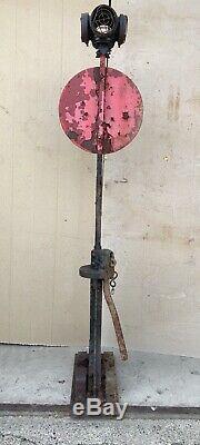 Antique Railroad Switch Stand With Lantern. Pettibone Mulliken