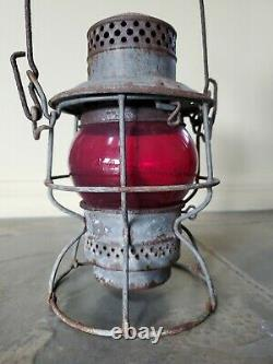 Antique The Adams & Westlake Railroad Train Lantern Oil Lamp Kerosene Light
