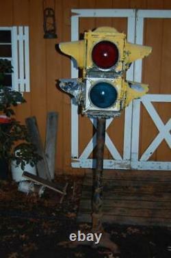 Antique Vintage Cast Aluminum 4-way Railroad/trolley Traffic Signal Light