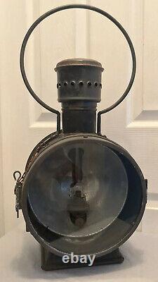 Antique Vintage Unger Railroad Train Engine Headlight Lantern (21.5 Tall)