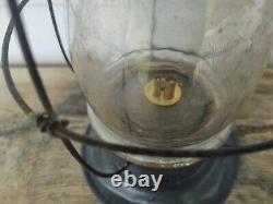 Antique Whale Oil 1850 Tin Railroad Lantern, Whale Oil Burner Bellbottom, RR