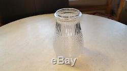 Antique X-Ray Pattern Glass Kerosene Lamp Globe Lantern Railroad Barn Camp