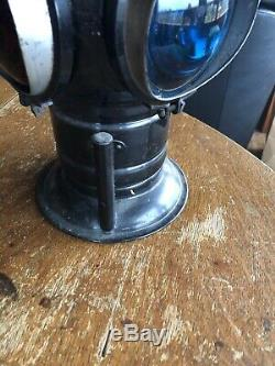 Antique railroad lantern Made In USA By Adlake Lamp Company In Chicago