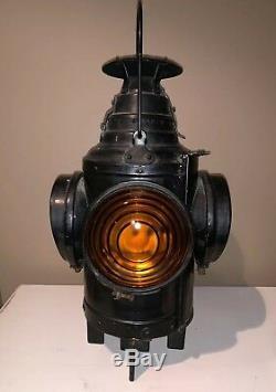 Arlington, N. J. DRESSEL Railroad Train Switch Signal Lantern With Burner
