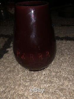 Armspear P & R. R. R Railroad Lantern with RARE Tall Red Flashed P & R R R Globe