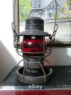 Armsphere 1925 C & O Railroad Lantern Weighted Bottom cast lettering