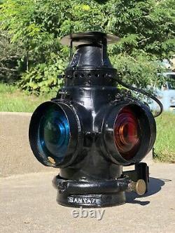 Atchison Topeka & Santa Fe AT&SF Railroad Adlake Marker Lamp Lantern Train Light