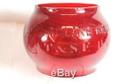 Atchison Topeka & Santa Fe Railway Adlake Railroad Lantern Red Globe (clean)