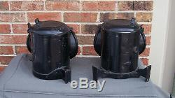 Authentic Pair Northern Pacific Railroad Steam Locomotive #1351 Class Lamps