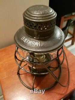 B&O RR Dietz 39 Lantern Baltimore & Ohio Railroad Clear Cast Globe Antique