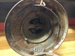 B & O Safety First Embossed Globe Keystone Railroad Lantern