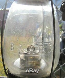 BOSTON & ALBANY B&ARR Fixed Globe RAILROAD LANTERN