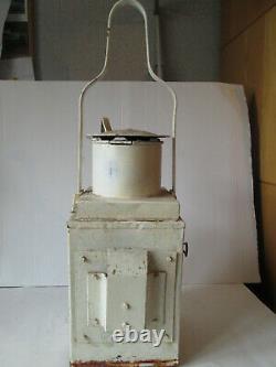 BR W Railway signal lamp. Ralwayana. British rail lamp. Railway lamp