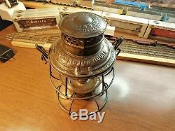BURLINGTON ROUTE CHICAGO BURLINGTON & QUINCY RAILROAD Lantern RELIABLE 1908
