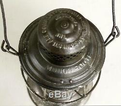 Bellbottom Railroad Lantern RR Ry Adams & Westlake MONON ROUTE CC CI&L Globe