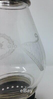 Brass Fixed Globe Presentation Lantern Wheel Cut JMcC Railroad Fire Conductors