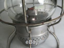 C&O Chesapeake & Ohio Railroad Adlake 300 Kerosene Lantern RY Etched Glass Globe