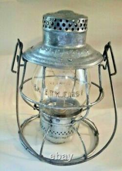 C. St. P. M & O. Ry Railroad Lantern withTall Embossed THE NORTHWESTERN LINE Globe
