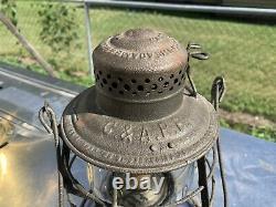 Chicago & Alton Railroad Lantern Withmarked Globe