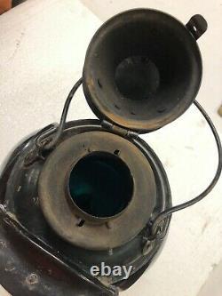 Cpr Railroad Switch Lamp Lantern Piper 4 Blue/green Lens Has Burner Inside #580