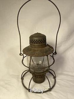 D&RG RR Handlan Railroad Lantern With Embossed Globe Denver Rio Grande