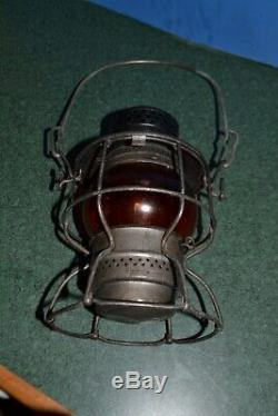 D&RGW Railroad Adlake Kero Brakemans Lantern w / Amber Globe