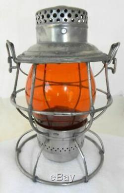 DENVER & SALT LAKE RAILROAD LANTERN Signal Yellow CNX Lantern Globe
