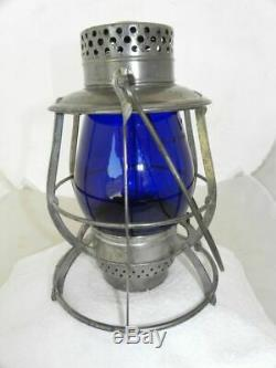 DIETZ EMPIRE RAILROAD LANTERN Signal Blue Vulcan EB Globe